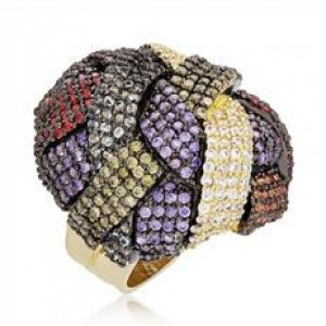 Buy Multi Colored Turban Ring Online
