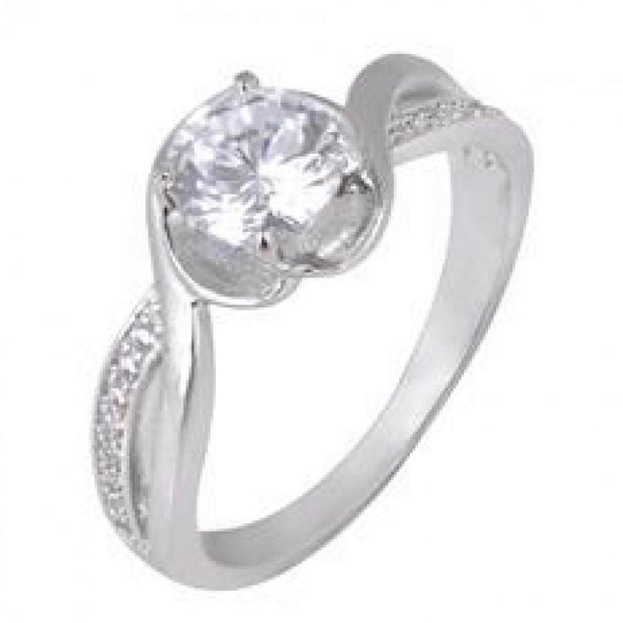 Buy Corset Stud Silver Ring with FREE Charm Online
